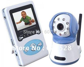 "2.4"" Wireless Digital Baby Monitor Talk CCTV Camera IR Video night vision home security cam"