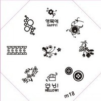 Free shipping M11-20 Nail Art Stamp Stamping Image Template Plate DIY Nail Art Design