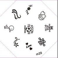 Free Shipping M21-40 Nail Art Stamp Stamping Image Template Plate DIY Nail Art Design, NAIL STENCILS