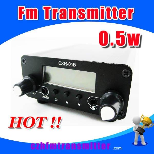 czh-05B 0.5w Fm transmitter PLL radio Broadcast antenna power free shipping(China (Mainland))