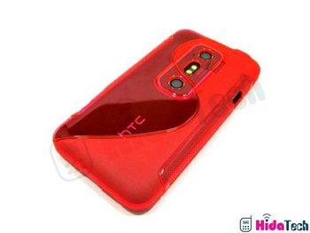 EVO 3D S line TPU Case,100PCS Free Shipping Chromatic S Line TPU Case cover for htc EVO 3D