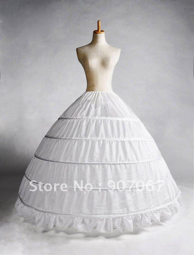 Free Shipping 6 Hoops High Quality Wedding Petticoat