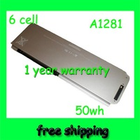 """Free shipping &50wh 6cell Original Battery A1281 for Apple 15"""" Alum Unibody MacBook"""