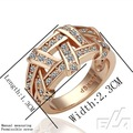 HOT 18K gold Gold crystal Ring women rings