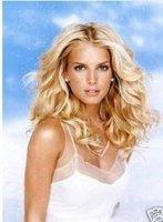 femmes blonds perruques de cheveux humains fait wigs  W-156