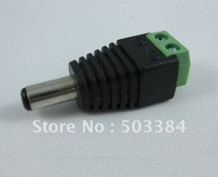 Free Shipping 100pcs 2.1mm CCTV camera DC Power Male Jack Connector