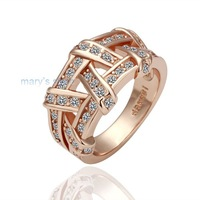 Freeshipping wholesale ring,18K gold plated ring,Rhinestone Crystal ring,fashion ring,gold ring