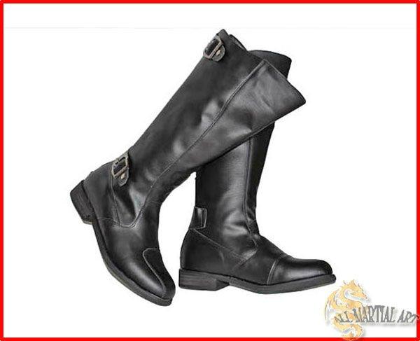 Punk gothic style boots biker boots cow boy boots black size 38 jpg