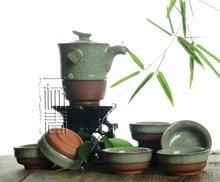 7pcs Exquisite Ice-Carck Tea Set, Archaize Porrtery Teaset,TB13, Free Shipping