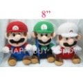 Free Shipping 50pcs Mix order Super Mario 8&quot; Plush Dolls Sitting Mario Toys Gift Hotsale