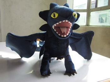 Movie How To Train Your Dragon Night Fury Plush Toy Large Long 24""