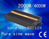 dc/ac converter,off grid ,CE approved, dc 24v to ac 100v , 2000w pure sine wave ,solar converter with jp plug free shipping