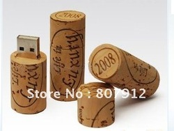 Promotional OEM Gift wooden wine stopper USB Flash Drive(China (Mainland))