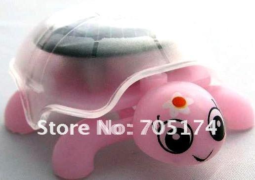 50pcs/Lot Educational mini Solar Power Tortoise Toy kid solar toys mini solar toys(China (Mainland))