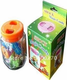 Wholesale 48pcs/lot Electronic Shock Magic Candy Trick Prank Joke Gag Gift toy [50 off EMS]