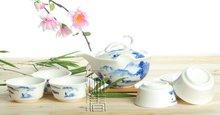 7pcs Deluxe Tea Set, Porrtery Teaset,TQ04, Free Shipping