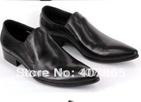 Free shipping  100% pure genuine cow leather man shoes men shoes men dress shoes  free shipping factory