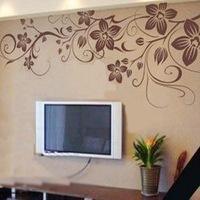 Free Shipping Wholesale And Retail Home Garden Wall Decor Sticker Decoration Vinyl Removeable Art Mural Home decor p-21
