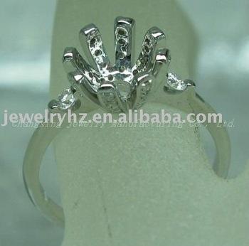 Wholesale Customized Design White Gold Heart Cut Diamond Ring Settings Natural