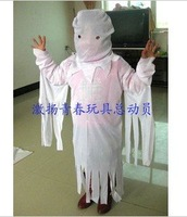 Halloween costumes children dress White ghost clothes / clothing white cloak children play