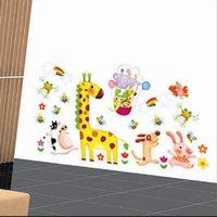 Free shipping,Decorative Animal wall stickers, Cartoon Children room stickers,100pcs/lot,TC1099