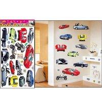 Free shipping,PVC Car wall stickers,Decorative Cartoon home decal,mix items,100pcs/lot,TC1087