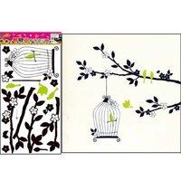 Free shipping,PVC DIY Branches and Birds wall stickers,Cartoon home decor,100pcs/lot,TC981