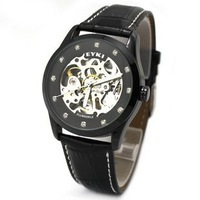 Free shipping EYKI full-automatic self-wind mechanical watch casual sporting men watch 3 colours W8372.3pcs/lot