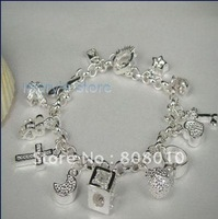 free shipping 925 silver jewelry bracelet,925 silver bracelet,925 bracelet,charm bracelet