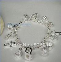 free shipping 925 silver jewelry bracelet,925 silver bracelet,925 bracelet,charm bracelet