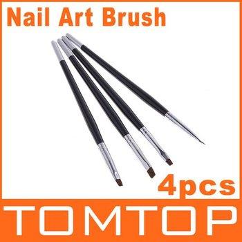 5 sets/lot 4 Sizes Professional UV Gel Brush Nail Art Painting Draw Brush,