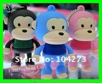 free shipping ! monkey USB flash memory drive 4GB usb 2.0 cartoon design wholesale&retail