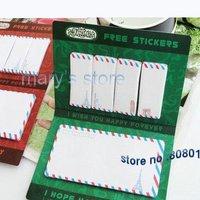 Free Shipping/cute envelope free sticker memos set