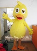 Yellow Lovely Duck Mascot Costume Adult Size Fancy Dress Party Outfit Free Shipping