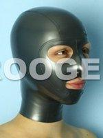 Free shipping! latex hood mask