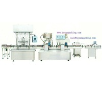 automatic bottle-sending, filling, capping, sealing, labeling Combination Production Line for corrosive liquids