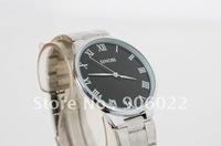 2014 Hot sale New mens ultra thin Simple and elegant business fashion cool black quartz Watch free shipping