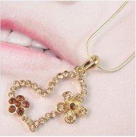 free shipping 12 pcs/lot wholesale fashion love heart  pendant new arriving heart necklace fashion jewelry