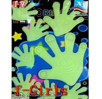 Baby Kid Gift Glow In The Dark Palm Stickers Bedroom Decor,30sets/lot