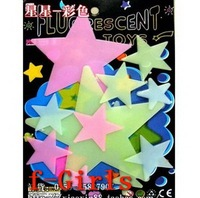 Baby Kid Gift Glow In The Dark Colorful Stars Stickers Bedroom Decor,30sets/lot