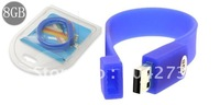 Free Shiping bracelet USB 2.0 8GB Flash Memory Disk 8G drive