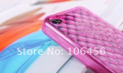 shinny TPU,soft case TPU cover for iphone4(China (Mainland))
