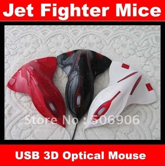 10pcs/lot Aircraft Jet Fighter 3D USB Optical Mouse Mice Laptop Freeshipping(China (Mainland))