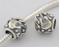 Handmade Authentic 925 Sterling Silver bead charm