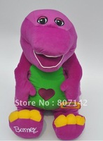 Free shipping Legal edition singing Barney makes benny dinosaur plush toys,60cm