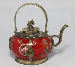 Rare Chinese collected Porcelain Dragon teapot pot(China (Mainland))
