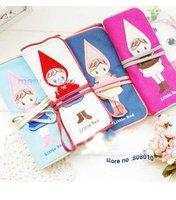 Free Shipping  cute little red bind belt high-capacity pen bag