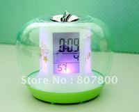 New Arrival Newest Apple Shape Alarm Digital LED Clock, Colorful Magic Desktop Watch,Super Fashion Design Hot sale