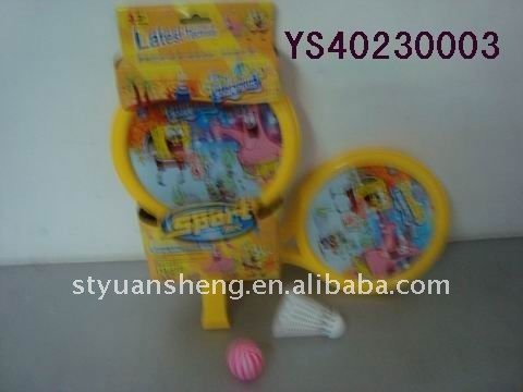 Wholesale sales series 2011 Latest Sport Toy Spongebob Racket Toys(China (Mainland))