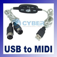 MIDI USB Cable Converter to PC Music Keyboard Adapter Retail & Wholesale